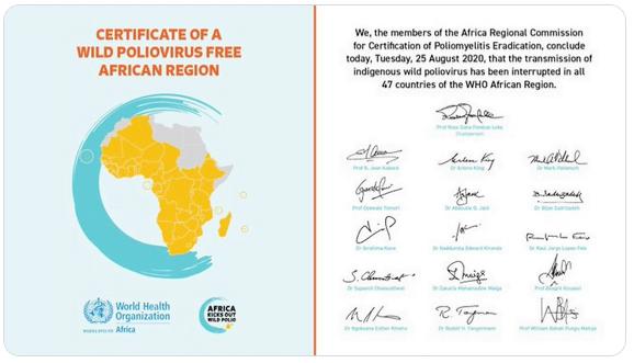 africa declared polio free