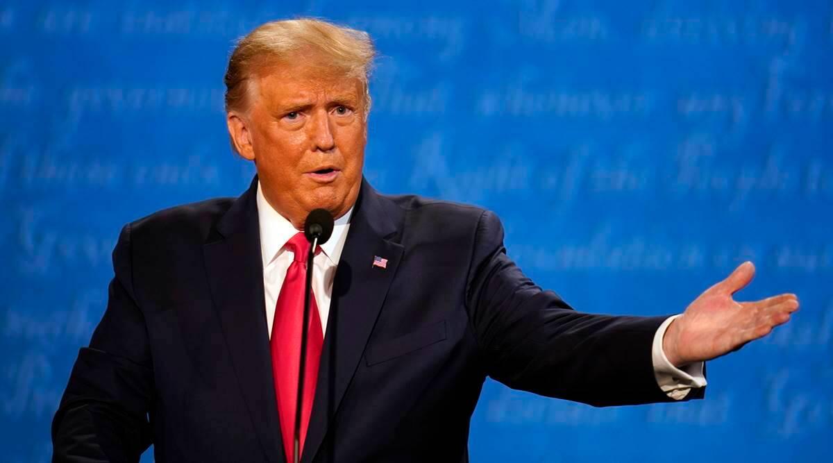 Trump At Presidential Debate